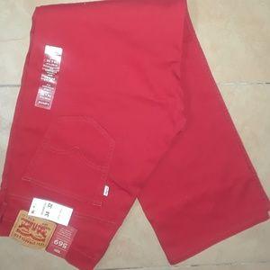 Mens Levis Crimson Red 569
